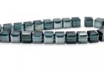 Montana Satin Swarovski Crystal Cube Beads 5601