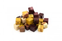 Mookaite (Natural) Cube Gemstone Beads