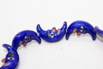 Enamel Cobalt Blue - Crescent Moon Shape