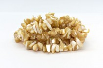Mother of Pearl ( Natural ) A grade Chips, Shell Beads - Natural