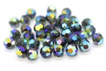 Morion AB 2x  5000 Swarovski Elements Crystal Round Bead