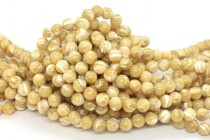 Mother of Pearl Round Shell Beads - Natural
