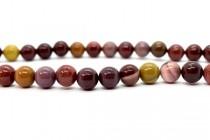 Mookaite (Natural) Smooth Round Gemstone Beads