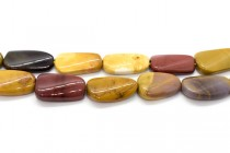 Mookaite (Natural) Rounded Pear/Oval Gemstone Beads