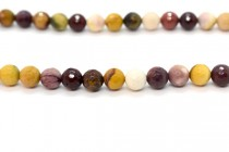 Mookaite (Natural) Faceted Disco Cut Round Gemstone Beads