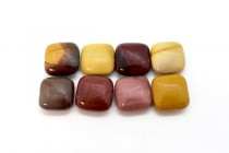 Mookaite (Natural) Pillow/Square Gemstone Beads