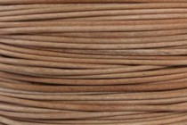 Greek Round Leather Cord - Brown (Natural)