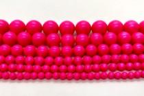 Crystal Neon Pink - Swarovski Round Pearls 5810