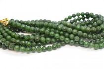 Vintage Nephrite Jade Beaded Necklace