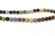 Ocean Jasper (Natural) Smooth Round Gemstone Beads