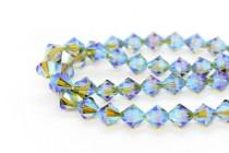 Olivine AB 2x 5301 Swarovski Elements Crystal Bicone Bead