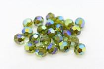 Olivine AB 2x 5000 Swarovski Elements Crystal Round Bead