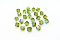 Olivine AB 5301/5328 Swarovski Elements Crystal Bicone Bead