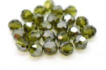 Olivine Satin 5000 Swarovski Elements Crystal Round Bead