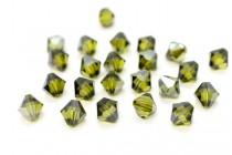 Olivine Satin 5301 Swarovski Elements Crystal Bicone Bead