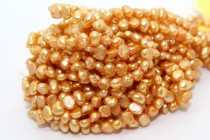 Irregular Potato Freshwater Pearls - Golden Orange