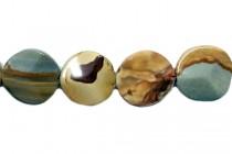 Owyhee Jasper (Natural) Large Wavy Coin Gemstone Beads