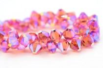 Padparadscha AB2x Swarovski Crystal Top Drilled Bicone Pendants 6301
