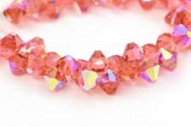 Padparadscha AB Swarovski Crystal Top Drilled Bicone Pendants 6301
