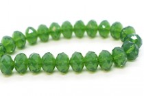Palace Green Opal 5040 Swarovski Crystal Faceted Briolette (Rondelle ) Bead