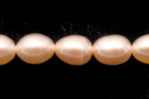Rice Freshwater Pearls - Peach  - 4x6mm
