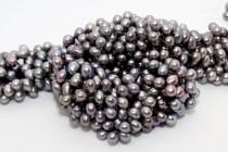Top-Drilled Teardrop  Freshwater  Pearls - Peacock Silver