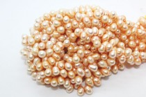 Top-Drilled Potato Freshwater Pearls - Peach
