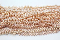 Top-Drilled Teardrop Freshwater Pearls - Peach (Natural )