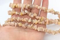 Peach Moonstone (Natural) Chip Gemstone Beads