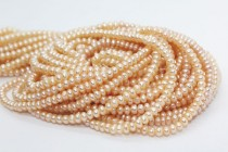 Button Freshwater Pearls - ( Peach / Natural Color)