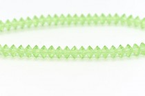 Bead, Swarovski crystals,peridot,faceted Flat Bicone Rondelle Spacer,5305.