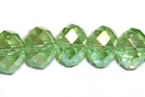 Green Peridot AB Chinese Crystal Rondelle Glass Beads