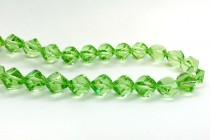 Bead, Swarovski® crystals, peridot faceted helix (5020).