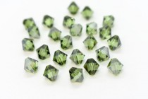 Peridot Satin 5301 Swarovski Elements Crystal Bicone Bead