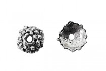 Pewter Bead Cap - Daisy Flower