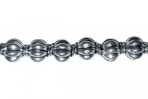 Pewter Melon Beads,7mm