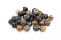 Picasso Jasper (Natural) Six Sided Drum Gemstone Beads