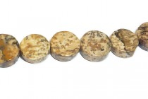 Picture Jasper (Natural) Coin Gemstone Beads