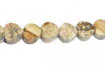 Picture Jasper (Natural) Heart Gemstone Beads