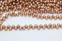 Top Drilled Teardrop Freshwater Pearls - Beige - A Grade