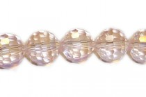 Light Pink AB  Chinese Crystal faceted Disco Cut Round Glass Beads