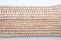 Button Freshwater Pearls - ( Pink /Natural Color)