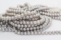 Almost Round Freshwater Pearls - Platinum - A Grade
