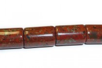 Poppy Jasper (Natural) A grade Big Hole Tube Gemstone Beads