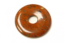 Poppy Jasper (Natural) Donut Gemstone Pendant