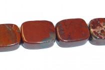 Poppy Jasper (Natural) Flat Rectangle Gemstone Beads