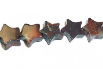 Poppy Jasper (Natural) Star Gemstone Beads
