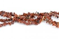 Poppy Jasper (Natural) Irregular Chip Gemstone Beads