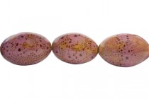 Pink Glazed Porcelain Egg Shaped Beads