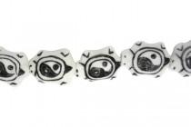 Black & White Porcelain Beads Turtle - Yin Yang